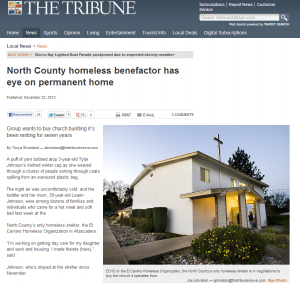 ECHO or the El Camino Homeless Organization, the North County's only homeless shelter is in negotiations to buy the church it operates from.