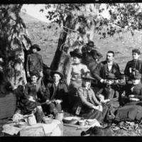 Glass negative of Shared Histories: R.J. Arnold's Photographs of the Central Coast in San Luis Obispo County California.
